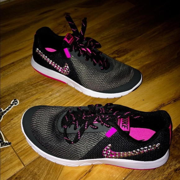 Women's size 8 custom Nike sneakers bling sparkle